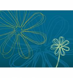 Teal flower power vector
