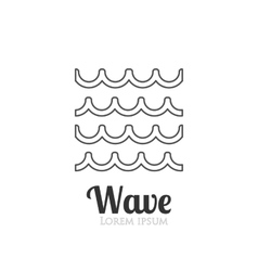 Abstract wavy icon company logo or presentations vector
