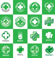 A large set of logos for medicine vector
