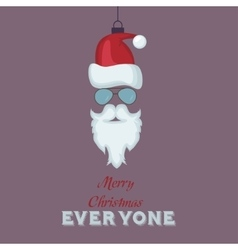 Merry Christmas Vintage Retro Typography Lettering vector image