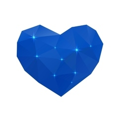 Blue cold heart vector