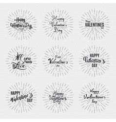 Valentines day - calligraphy typography badge it vector