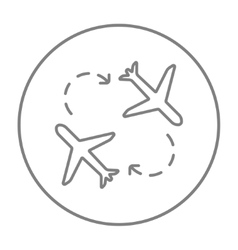Airplanes line icon vector