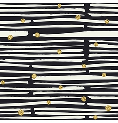 Seamless pattern black hand drawn bold lines and vector