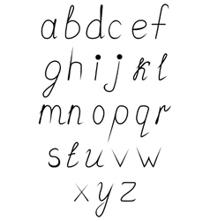 Handwritten uppercase alphabet vector