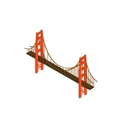 Brooklyn bridge icon isometric 3d style vector