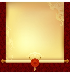 Background with old paper vector