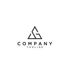 ag triangle logo vector image vector image