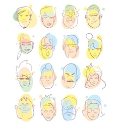 avatar icons set vector image vector image
