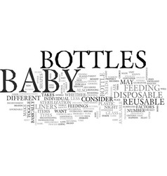 baby bottles text word cloud concept vector image vector image