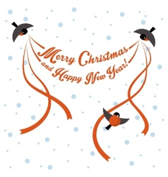 Birds are greeting inscription vector image vector image