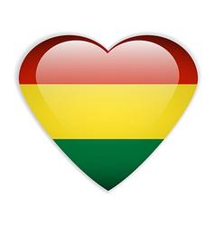 Bolivia flag button vector image vector image