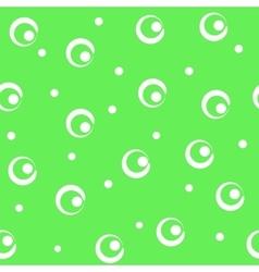 Circle white seamless pattern vector image