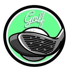 Color vintage golf emblems vector