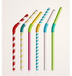 Drinking Straws vector image