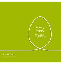 Easter card with silhouette line egg vector image vector image