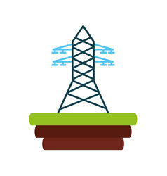 Electric tower isolated icon vector
