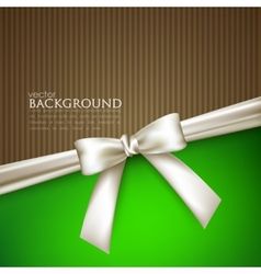 Elegant background with white bow vector