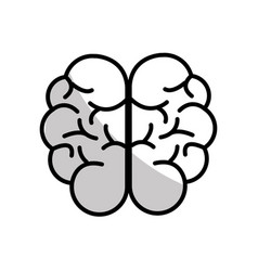 Figure mental health smart brain icon vector