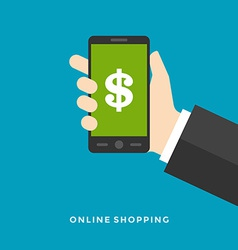 Flat design business concept Online banking vector image