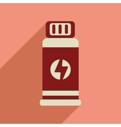 Flat web icon with long shadow jar energy vector