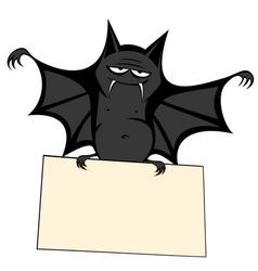 Funny freaky bat vector image vector image