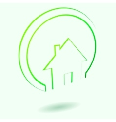 Green house icon vector image