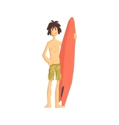 Guy with the surf board vector