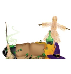 Halloween witchcraft vector image