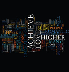 Love at a higher level text background word cloud vector