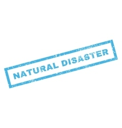 Natural Disaster Rubber Stamp vector image vector image