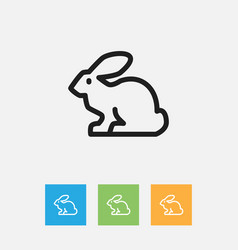 of animal symbol on rabbit vector image