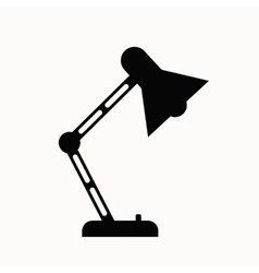 Office lamp flat icon vector image vector image