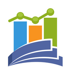 Profit report management vector
