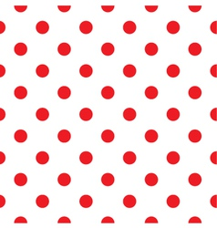 Red polka dot seamless pattern design vector image vector image