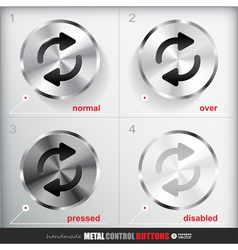 Set of four positions of circle metal repeat vector