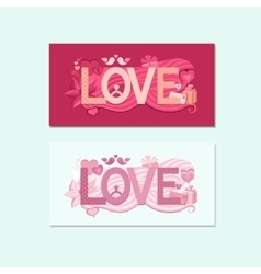 Typography valentines day vector