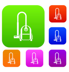 vacuum cleaner set collection vector image