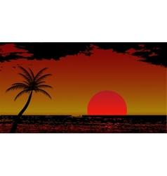 Warm Sea Sun Vacation vector image