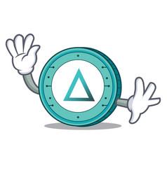 Waving salt coin character cartoon vector