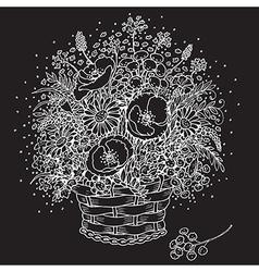 wildflowers bunch vector image