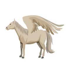 winged horse pegasus or flying mustang mascot vector image vector image