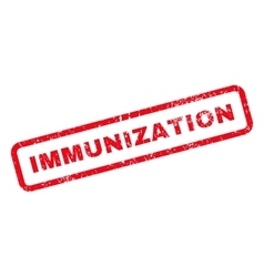 Immunization text rubber stamp vector