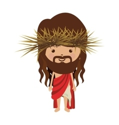 Avatar jesus christ with stole and crown thorns vector
