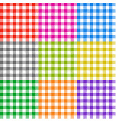 picnic tablecloth checkered seamless vector image