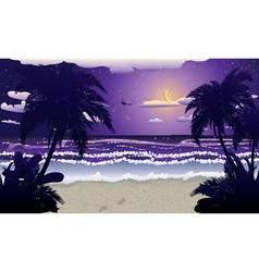 Night beach vector image