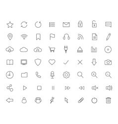 Digital linear icons set vector