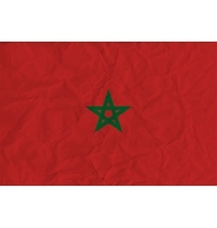 Morocco paper flag vector