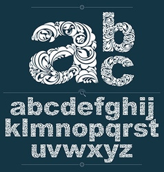 Ecology style flowery font typeset made using vector