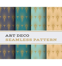 Art deco seamless pattern 07 vector